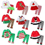 Baby Girls Christmas Cute Top Shirt + Long Leggings Outfit Style A 2-3 Years