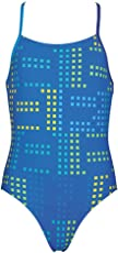 Arena 000097 G Neon Jr Polyester Swimsuit (Size 24, Pix Blue/Royal/Turquoise)