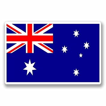 2 x 10cm 100mm australia australian flag window cling sticker car van campervan glass