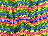 gemustert Streifen Print Kleid aus Baumwolle Stoff Multicolor–Meterware