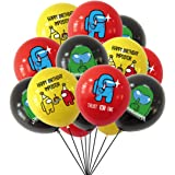 Game Among Us Globos - YUESEN 30PCS A_mong Us Game Party Globos Supplies Set Anime Theme Cumpleaños Regalo Dcoration para Niñ