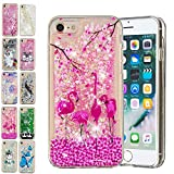 E-Mandala Coque Apple iPhone 7 Plus 8 Plus Paillette Liquide Brillante Flamant Rose...