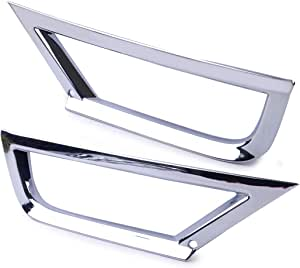 Schwarz Paar 51118122449 + 51118122450 ABS-Nebelscheinwerfer-Lampenrahmenabdeckung Geeignet f/ür E30 E36 E46 318 323 325 Nebelscheinwerferverkleidung