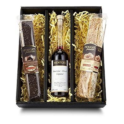 Das Geschenkset italienischer torrone & Amarena-Kirsch-Likör