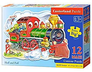 CASTORLAND Huff and Puff 12 Maxi pcs Contour Puzzle 12 Pieza(s) - Rompecabezas (Contour Puzzle, Dibujos, Preescolar, Niño/niña, 3 año(s), Interior)