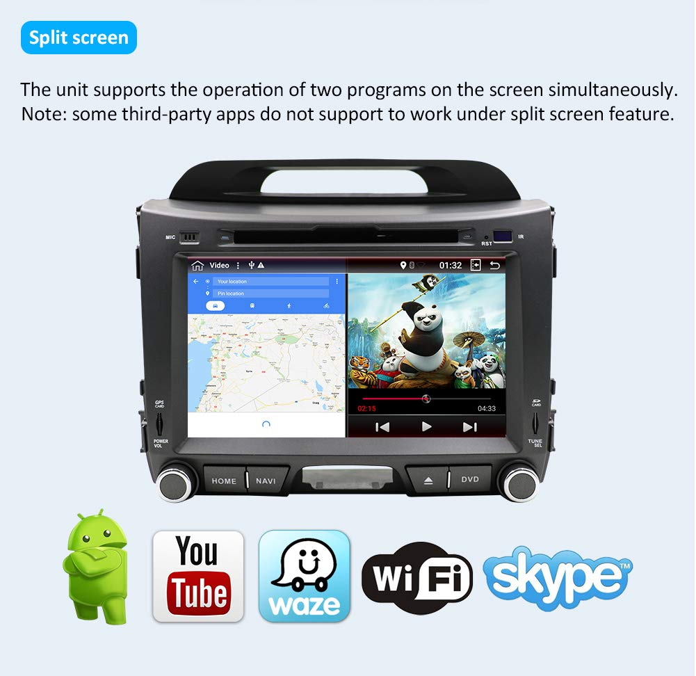 Kapazitativer-Kfz-Touchscreen-fr-Einbau-Haupteinheit-8-Zoll-203-cm-Android-71-GPS-Video-DVD-Player-Autoradio-Elektronik-CD-MP3-MP4-Autoradio-Multimedia