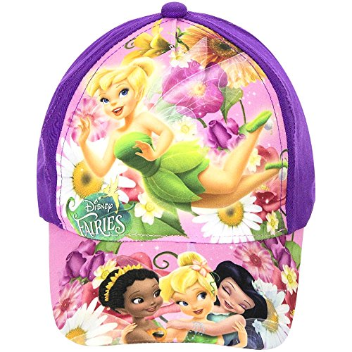 Disney Fairies Baseball Cap für Kinder, lila/bunt, original Lizenzware, Gr. 52