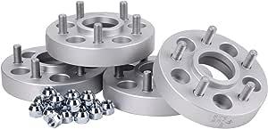 Hofmann Spurverbreiterung Aluminium 4 Stück 34 Mm Pro Scheibe 68 Mm Pro Achse Inkl TÜv Festigkeitsgutachten Auto