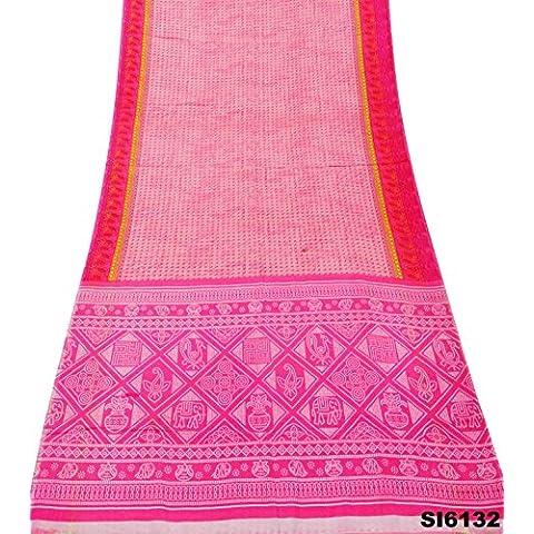 Mujeres Del Vestido Floral De La Vendimia Sari India Rosa Nave Sarong Envoltura De Seda Impresa Desgaste Mezcla Cortina Sari Bricolaje Ocasional