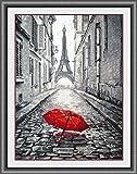 Paris sous la pluie, point de croix,135x200 point,35x47cm,Paris sous la pluie point de croix...