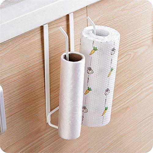 Toallero hierro doble fila rollos papel, soporte cajón