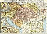 Eisenbahnkarte Österreich-Ungarn und Balkanstaaten 1918: Restaurierter Reprint der Originalkarte als Poster auf Kunstdruckpapier im Format 59 x 84 cm. (Sammler-Edition Historische Eisenbahnkarten)