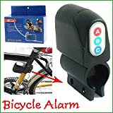 #4: Loud Sound Security Bike Lock Alarm Waterproof Bicycle Alarm Lock Anti-Theft Lock Sturdy Black Plastic No Rust