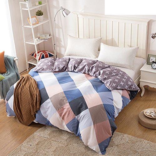 Bettbezug,Student Schlafsaal Baumwolle Twill Tröster abdeckung herbst und winter Tröster abdeckung Bettwäsche (Include:Bettbezug X 1)-F 53x79inch(135x200cm) - Baumwoll-twill Tröster