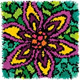 """Colorful Latch Hook Kit 16""""X16""""-Flower (Pack of 1 )"""