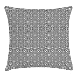 OQUYCZ Contemporary Throw Pillow Cushion Cover, Ethnic Moroccan Star Pattern Lines And Hexagons Design Oriental Inspirations, Decorative Square Accent Pillow Case, 18 X 18 Inches, Black White