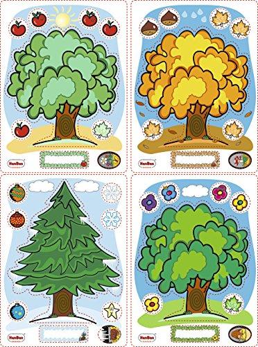 HenBea - Maxi plantillas con las estaciones del año (870)