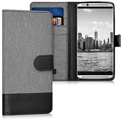 kwmobile ZTE Axon 7 Mini Hülle - Kunstleder Wallet Case für ZTE Axon 7 Mini mit Kartenfächern & Stand