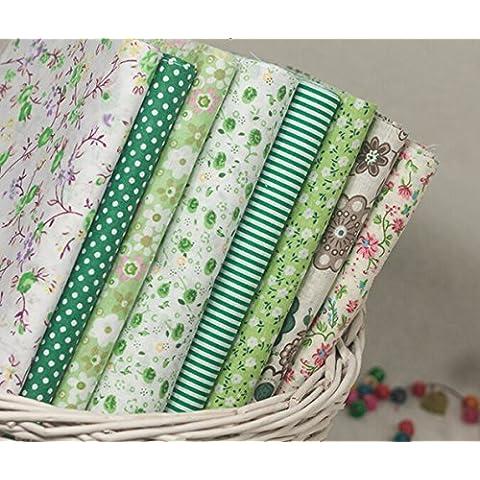 Tamaño pequeño de algodón que acolcha bricolaje Pequeña Flor Tela Bundle para patchwork y manualidades con tamaño 20 X 25 cm Color