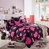 Tinksky 4 Stück Bettwäsche Bettdecken aus Baumwolle Bedspreads Quilt Sets für Hotel Home 1.8 Meter Multi Color