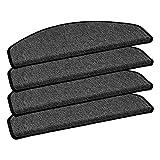 HOMEFACTO:RI 15er Set Stufenmatten Nizza Treppenschoner Schlinge schwarz