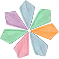 nuosen 25 PCS Baby Micro Fibre Cloth Baby Wipes Face Flannels Towels for Cleaning Face Hands Body Ideal for Baby Soft Skin Quick Drying Absorbent