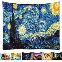 tappeto La Notte Stellata di Van Gogh, arazzo da parete, tappeto da parete, tappezzeria con stampa in alta definizione 150 x 200 cm