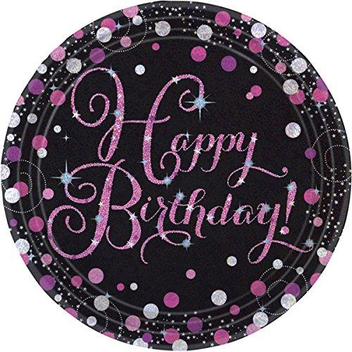 Amscan 990057123cm Celebration Happy Birthday Prismatischer Pappteller