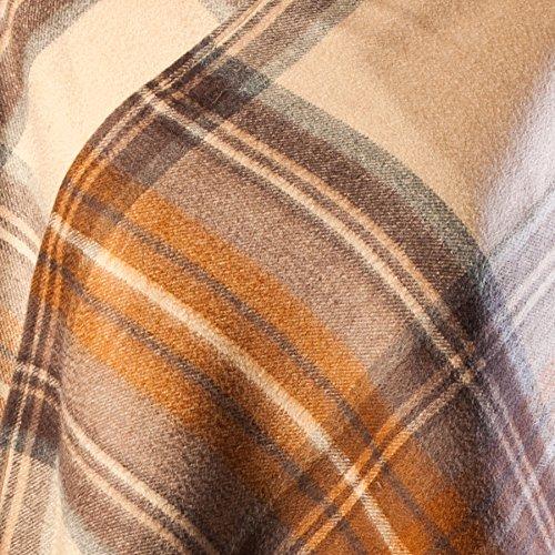 Edinburgh 100% in lana Tartan Scozzese Mini mantello STEWART NATURAL DRESS