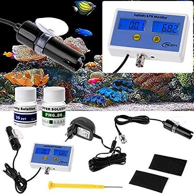 Meatyhjk PH-2771 Digitales Salz- und pH-Messgerät, Wasserqualität-Messgerät, Test für Aquarien