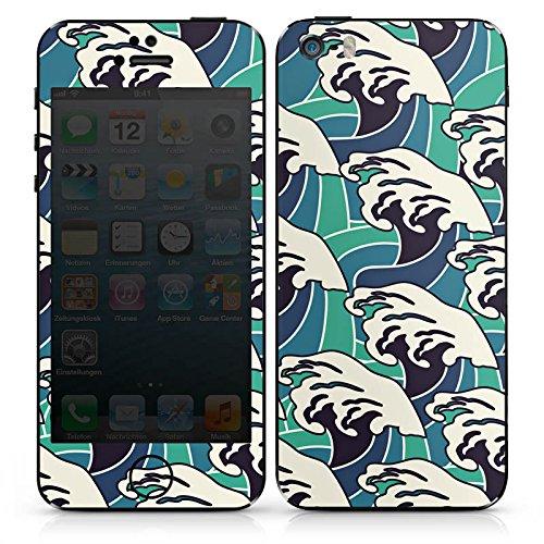Apple iPhone SE Case Skin Sticker aus Vinyl-Folie Aufkleber Wellen Sommer Meer DesignSkins® glänzend