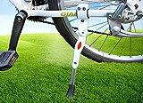 MINGZE Fahrradständer, höhenverstellbar Aluminium-Legierung Mountainbike-Ständer für Fahrrad 22/24/26 Zoll / 700C Rennrad (Weiß)