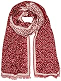 Calvin Klein Damen Schal Check Scarf, Rot (Red Rock 628), One Size