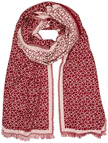 Calvin Klein Damen Schal Check Scarf, Rot (Red Rock 628), One Size Preisvergleich