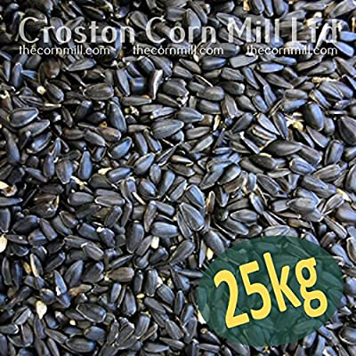 25kg 'Wheatsheaf' Black Sunflower Seeds for Wild Birds (2x12.5kg bags) by Croston Corn Mill