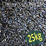 25kg 'Wheatsheaf' Black Sunflower Seeds for Wild Birds (2x12.5kg bags)