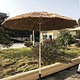 YXLZ Sonnenschirm Hawaii, ø 2.5 cm NatüRliche Farbe 8 Rippen Gartenschirm Terrassenschirm Balkonschirm Rund Marktschirm Strandschirm