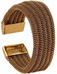 Efulgenz Ethnic Designer Oxidised Gold Plated Adjustable Kada Bracelet For Girls And Women