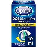 Optrex Colirio Multidosis Doble Acción para Picor de Ojos, Negro, Estándar, 10 Mililitros
