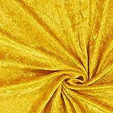 Fabulous Fabrics Pannesamt – Gold — Meterware ab 0,5m