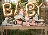 #6: PARTY PROPZ BABY SHOWER (GOLDEN BABY FOIL BALLOONS 1 SET OF 4 PIECE/BABY SHOWER DECORATION ITEMS/ BABY SHOWER PARTY SUPPLIES)
