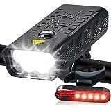 EBUYFIRE 5 LED cykelljus 5200 mAh batteri cykel framljus och bakljus set USB uppladdningsbar IPX6 vattentät cykel strålkastar