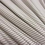 Stoff Meterware Jersey Ringeljersey Streifen taupe beige weiß gestreift Kleiderstoff