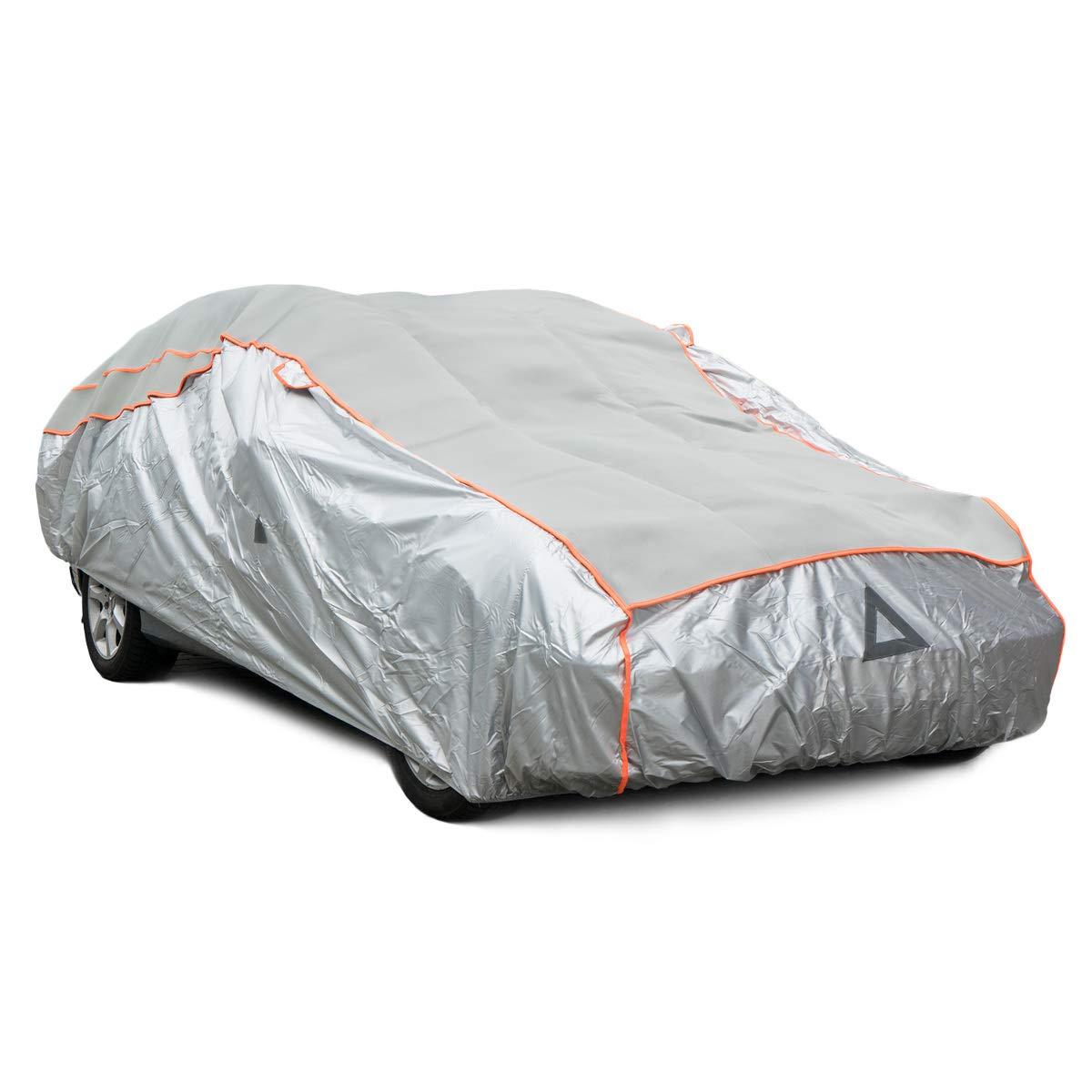 Navaris Bâche de Protection Voiture – Housse Anti-Grêle Taille M pour Auto – Couverture Étanche pour Carrosserie Véhicule en Hiver Extérieur