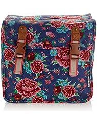 BASIL Kinder-Doppelpacktasche 'Bloom Double Bag' Volumen: ca. 20l, aus wasserabweisendem Polyester, Reflex auf allen Seiten, mit abgesteppten Spannbandaussparungen, indigo blue