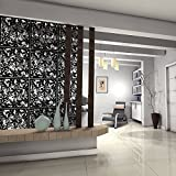 Kernorv DIY Room Divider Screens Made of Environmentally PVC,Simple and Modern Hanging Panel Screen for Decorating Beding, Dining, Study and Sitting-room, Hotel, Bar and School Black 12 PCS