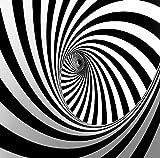 Wh-Porp Neue 3D Große Wandbild Schwarz Weiß Unregelmäßige Linien Vortex Spirale 3D Wandbild Tapete 3D Wandbild Wandpapier Für Wohnzimmer Dekor-350Cmx245Cm