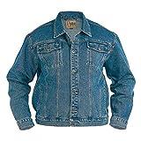 Duke KS1303 Denim Jeans-Jacke stonewashed in Übergrößen: Farbe: stone | Größe: 64-5XL