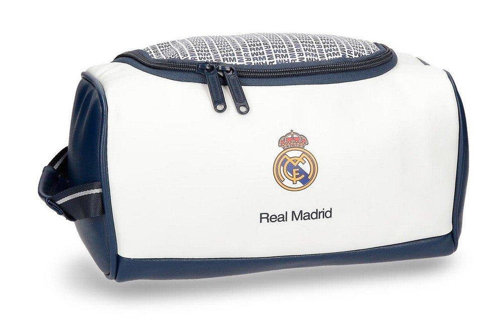 Real Madrid RM Leyenda Neceser de Viaje, 26 cm, 6.24 litros, Blanco