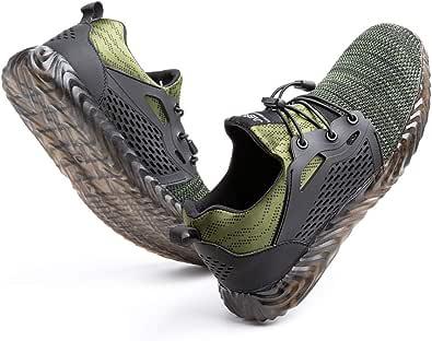 Scarpe Antinfortunistica Uomo Donna con Punta in Acciaio Scarpe da Lavoro Leggere e Comode Sneaker da Cantiere Nero Blu Grigio Verde Taglia 36-48